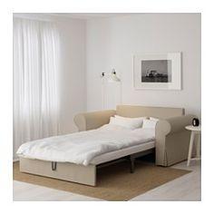 IKEA - BACKABRO, Sofá cama 2 plazas, Hylte beige, , Los muelles embolsados se amoldan al contorno corporal y mantienen la columna alineada mientras duermes.Esta funda está fabricada con una duradera mezcla de algodón y poliéster cuya estructura es claramente visible.Un colchón firme que te ofrece un buen soporte y se puede utlizar todas las noches.Debajo del asiento puedes guardar ropa de cama, por ejemplo.Este sofá se transforma rápida y fácilmente en una cama amplia. Para ello solo tienes…