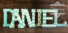 Letras decoradas, letras, letras de madera