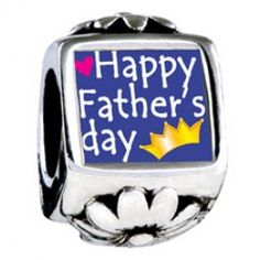 Happy Father\'s Day Photo Flower Charms  Fit pandora,trollbeads,chamilia,biagi,soufeel and any customized bracelet/necklaces. #Jewelry #Fashion #Silver# handcraft #DIY #Accessory