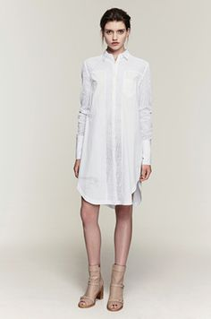 shop the Broderie anglaise long sleeve dress