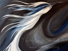 Blue Bird Energy Painting Abstract Original by ArtInSoulorg