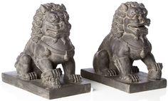 Alfresco Home Foo Dogs Statue (Set of 2)