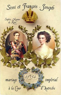 Franz Joseph en Elisabeth 1854