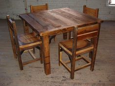 Reclaimed Wood Table and Chairs. $1,000.00, via Etsy.