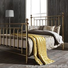 Victorian-inspired #Brass Metal #Bed Frame
