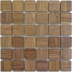 Harvest Bamboo 'French Roast' Mosaics Petal Wooden Tiles....kitchen wall