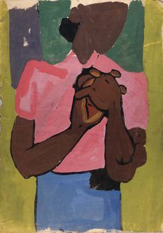 William Johnson Artist African American | ... in Pink Blouse and Blue Skirt by William H. Johnson / American Art
