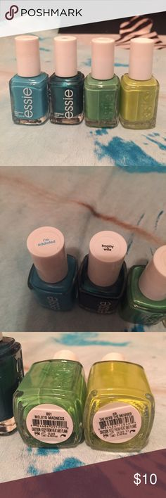 Bundle of nail polish Essie Barely used not sure if I even use them at all in good condition not goopy. They all come together. My prices are as low as I can go but will consider Any reasonable offers. Shares will help me so much to raise a goal of $25,000 to pay for medical expenses. Comes from pet free and smoke free home! Blessings! Essie Makeup