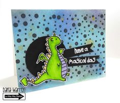 The Alley Way Stamps - Dana Warren - TAWS Clear Stamps Cards Enchanted, Seeing Spots