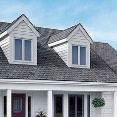 Dark Roof Tan Siding Certainteed Landmark Charcoal Black