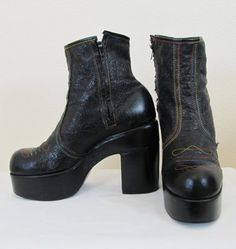 Mens-Authentic-Vintage-70s-Platform-Boots-Glam-Rock-Disco-Kiss-New-York-Dolls