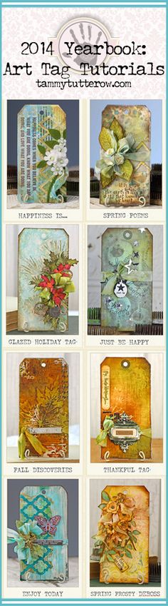 New e-book: 2014 Yearbook- Mixed Media Art Tags | 8 step-by-step tutorials.