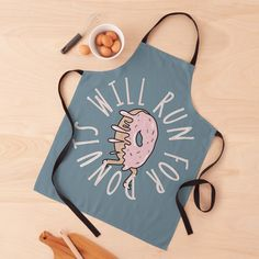 Aprons, Donuts, My Arts, Cartoon, Running, Art Prints, Printed, Awesome, Funny
