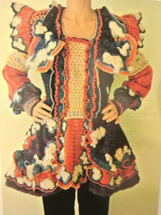 Sharron Hedges made some stunning crochet art coats in the 70s and early 80s!