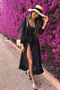 Shay Mitchell Shows Us How to Style a Sheer Robe Outside the Bedroom - - It seems like Shay Mitchell is constantly traveling to far parts of the world. The actress is currently exploring the beautiful city of Marrakech, and her. Pool Outfits, Summer Outfits, Cute Outfits, Miami Outfits, Beach Vacation Outfits, Outfit Beach, Shay Mitchell Style, Outfit Strand, Mode Inspiration