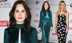 Downton's Michelle Dockery & Joanne Froggatt look chic at photo call