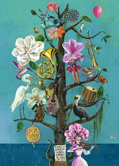 Olaf Hajek is a German-based illustrator, painter, artist, graphic designer and author. Art And Illustration, Folk Art Flowers, Flower Art, Art Floral, Painting Inspiration, Art Inspo, Kunst Inspo, Arte Popular, Botanical Art
