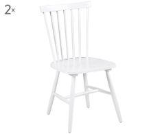 Entdecken Sie Stühle Tilda aus Holz in Weiß und viele weitere Stühle jetzt auf…