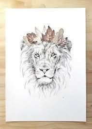 Image result for tattoo lion flowers