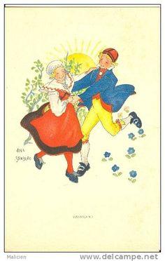 Illustrateurs - Illustrateur -ref  B596- Illustrateur Enfants - Aina Stenberg - Varmland -carte Suede  -carte Bon Etat - - Illustrateurs & Photographes