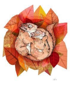 Squirrel Spoon // A4 print