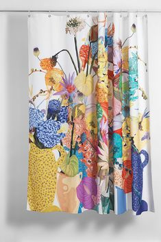 Blossom Artist Cotton Shower Curtain ( Waterproof ) by Sophie Probst Flower Power, Xmas Gifts, Artist At Work, Designer, How To Draw Hands, Pure Products, Luxury, Prints, Cotton