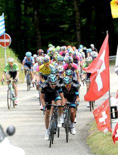 Tour de Suisse 2014 Philip Deignan leads Team Sky Photo credit © Fotoreporter Sirotti