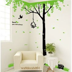 Tree Wall Decal wall sticker kids decal birds by walldecals001