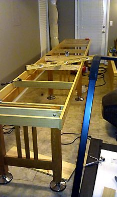 Bryan Edingeru0027s Table Shuffleboard Build And Refinishing Project