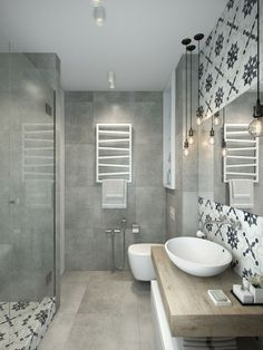Modern Bathroom Have a nice week everyone! Today we bring you the topic: a modern bathroom. Do you know how to achieve the perfect bathroom decor? Small Studio Apartment Design, Small Apartment Decorating, Studio Design, Bad Inspiration, Bathroom Inspiration, Minimalist Apartment, Minimalist Bathroom, Shower Remodel, Remodel Bathroom