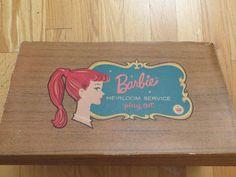 1962 Barbie Heirloom Service Playset Plastic by HolySerendipity