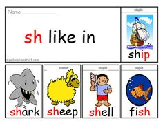 'sh' Phonics Flip Book - Download this FREE ow Word Flip Book to Help With Reading