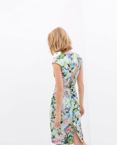 ZARA - NEW THIS WEEK - BOAT NECK DRESS WITH FLUTTER SLEEVES