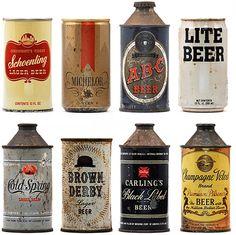 빈티지 맥주 캔 컬렉션 / 펍(Pub) 실내장식용 대형 포스터 /  가로세로 200cm x 150cm