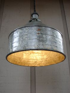Upcycled Vintage Farm Funnel Pendant Light 2 by BenclifDesigns, $110.00