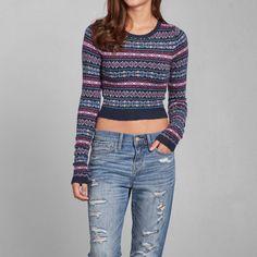 Moose Fairisle Mock Neck Sweater