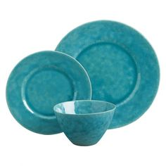 AMERA - Turquoise 12-Piece Dinnerware Set