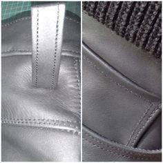 Details von der maßgefertigten Bikerlederhose