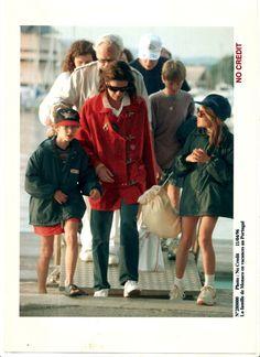 The Princely Family of Monaco in Portugal in 1996