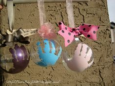 Love this idea for making a Christmas ornament with each of the kids each year to mark their growth.