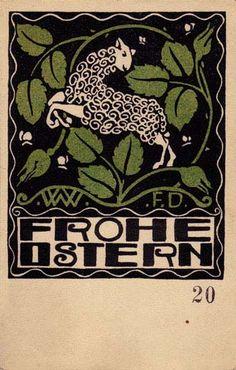 Wiener Werkstatte postcard by Franz Karl Delavilla (1884–1967)