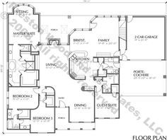 One Story Home Plan C5237 In 2021 House Plans One Story Homes House Floor Plans