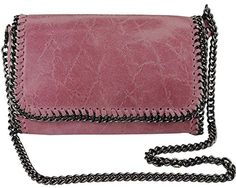 Italian Pink Clutch Genuine Leather W/removable Shoulder Strap Designed & Hand Made in Italy: Handbags: Amazon.com
