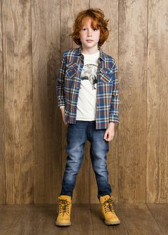 Regular-fit ink jeans #MANGOKids #FW14 #Kids