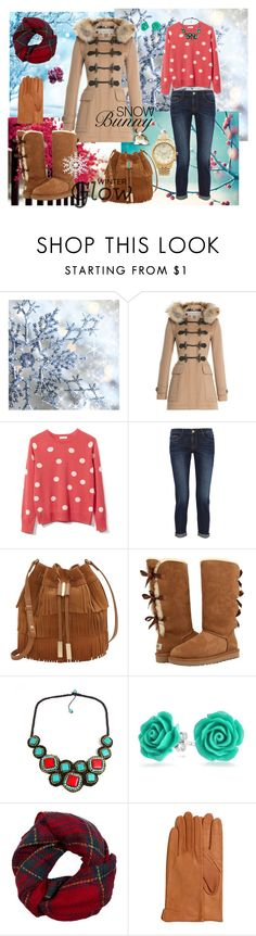 """""""Wintertime"""" by aniri310 on Polyvore featuring Burberry, Equipment, Frame Denim, Vince Camuto, UGG Australia, AeraVida, Bling Jewelry, Fevrie, H&M and Michael Kors"""