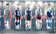 Wallis SS'12 | Jubilee 'Hidden Gems' Window - (VM and Display Awards 2012 Best Use of Mannequins in a Multiple)