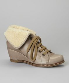 Take a look at this Beige Fold-Over Vega Ankle Boot by Eric Michael by Laurevan on #zulily today!