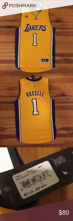6f9387fd0 Adidas Los Angeles Lakers D Angelo Russell Jersey Men s Small. Authentic  Adidas Swingman Los