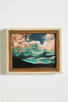 "Pink Clouds Wall Art $138, 12.5""W 10.5""H 1.75""D"
