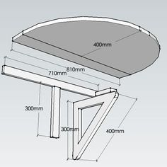 HOME DZINE Home DIY | Make a small drop-leaf table